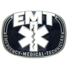 Emergency Medical Rescue Trades Paramedics EMT Logo Belt Buckle Mens Leather New