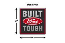 Built Ford Tough Emblem Logo Decal 2PK Set for F150 F-150 Truck Stickers RED