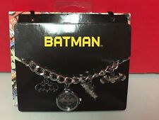 Batman Series Watch Charm Bracelet DC Comics Stainless Steel Accutime