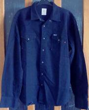 Replay Men's Black Denim Shirt, M4860.000.560 07, Extra Large/X-Large/XL, studs