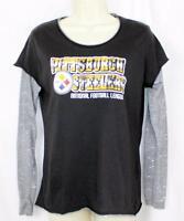 Pittsburgh Steelers Shirt NFL Women's Fan Sports Playoffs Football Long Sleeve M