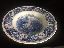 Blue And White Royal Tudor Ware Olde England Soup Bowl