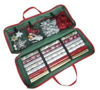 Christmas Gift Wrap Wrapping Paper Decoration Tidy Storage Bag Organiser Xmas