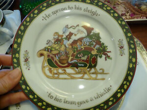YOUR CHOICE Portmeirion Christmas Story Salad Plate (select by number below)