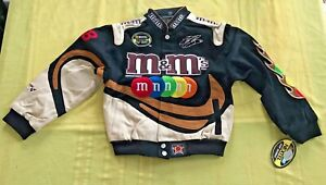 JH Design Nascar Elliot Sadler #38 M&Ms Canvas Bomber Jacket Youth M NEW NWT