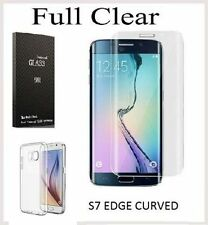 Pellicola Vetro Temperato curvo per Galaxy S7 Edge G935f trasparente