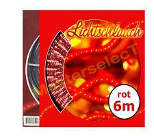 2x GUIRLANDE CORDE RAMPE LUMINEUSE DE NOEL 6m 144 A LEDS BLANCHE & ROUGE