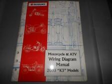 Factory 2003 Suzuki Motorcycle & Atv Wiring Diagram Manual 78pags
