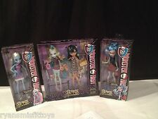 BNIB Monster High Scaris City Of Frights 4 Doll Lot ABBY, GHOULIA, CLEO, LAGOONA