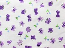 LAVENDER BUTTERFLY FLOWER SWEET SPRING GIRL FASHION SEW CRAFT DECOR FABRIC BTHY#