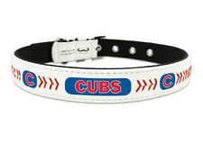 Chicago Cubs Medium Leather Lace Dog Collar [NEW] MLB Pet Cat Lead CDG