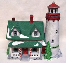 Department 56 New England Village Series Craggy Cove Lighthouse 1987 W/Box