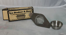 Vintage Tea Strainer With Bowl New Old Stock Hoan 1979