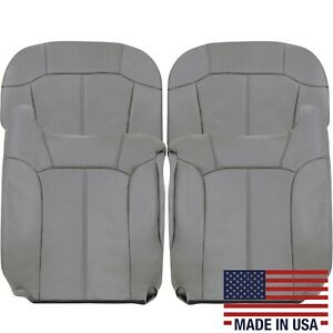 2000 2001 2002 Chevy Tahoe Suburban Leather Seat Covers Light Gray #122 Pewter
