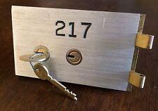 SAFE DEPOSIT BOX DOOR LOCK & KEYS! SAFETY BANK VINTAGE ANTIQUE KEY 5x3 OPENS S&G