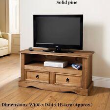 New Stylish Solid Pine Rio 2 Drawer Media Unit Living Room use