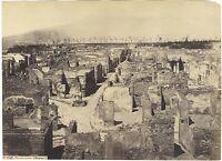 Panorama Da Pompei Italia Foto Sommer Vintage Albumina Ca 1870