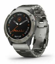 Garmin Fenix 6X Pro Reloj GPS 51mm Caja con Titanio Correa - Titanio Bisel