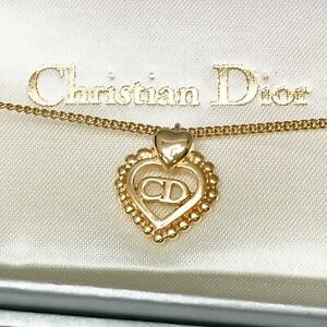 CHRISTIAN DIOR CD Logo Heart Vintage Necklace Pendant Dead stock Display only