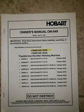 Hobart Fabstar 2620 Welder Manual