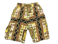 Vintage Mens Board Shorts Size M Length Beach 90s Bright Loud Surfing Mambo