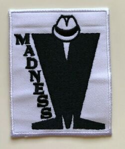 Madness SKA Band Black & White 2 Tone MOD - Embroidered Iron on Sew on PATCH