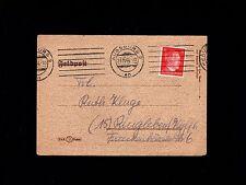 WWII Germany Hitler Head Feldpost Letter Sheet Augsburg 1944 Cover 6q