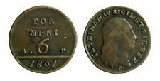 s294_2) Napoli Regno  Ferdinando IV - 6 Tornesi 1801