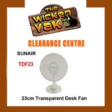 SUNAIR 2 Speed 23cm Transparent Desk Fan+Tilt,Oscillate TDF23 FREE SHIPPING -NEW