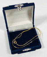 Gold Tone Vintage Necklace Collar Length Snake Chain Elegant Dainty Costume