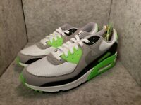 """""""New"""" Nike Air Max 90 White Lime Particle Grey Shoes CW5458-100 Men's Size 9"""