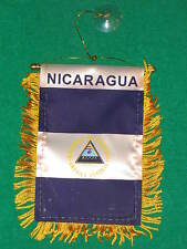 "NICARAGUA FLAG MINI BANNER 4""x6"" CAR WINDOW MIRROR NEW"