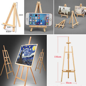 Studio Wooden Easel Display Art Craft Artist Cafe Wedding Paintings Stand 1.5m