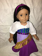 """Fortune Teller Dress Halloween Costume Fits 18"""" American Girl Doll Clothes Lot"""