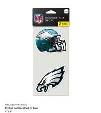 Philadelphia Eagles 2 Sticker Helmet + Logo Decal Badge Emblem Nfl Football