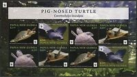 PAPUA NEW GUINEA 2016 WWF PIG NOSED TURTLE   SHEET OF EIGHT  MINT NH