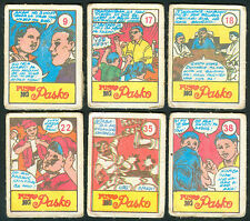 6 Vintage EXOTIC PUSO NG PASKO Philippine TEKS / Trading Comic Cards
