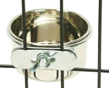 800120 Stainless Steel 5 oz Cage Coop Clamp Bolt Cup Bird Dog Food Water Bowl