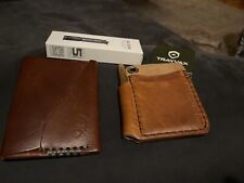 Trayvax, Hitch And Timber, Open Seas Leather Wallet, And Olight I3e Lot.