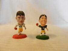 1996 Brett Favre & 1998 Mark Chmura Corinthian Figurines Green Bay Packers