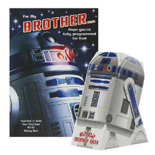 STAR WARS R2-D2 FOR MY BROTHER ... BIRTHDAY CARD NEW GIFT