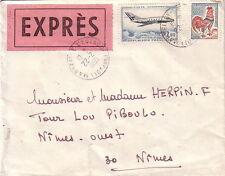 BOUCHES DU RHONE - MARSEILLE - LETTRE EXPRES POUR NIMES LE 22-2-1966 -TARIF 2F30
