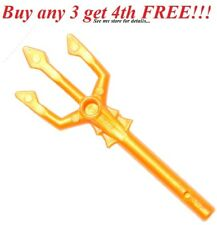 ☀️NEW! Lego Weapon Gold TRIDENT Atlantis Minifigure Pitch Fork Minifig Tool Sea