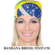 Bandana Brésil Brasil POLYESTER drapeau foulard motard 55x55cm COUPE DU MONDE LG