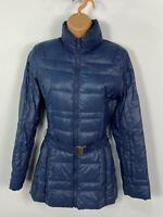 WOMENS ETAGE BLUE ZIP UP DOWN PADDED PUFFER LIGHTWEIGHT WINTER COAT JACKET UK 8