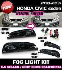 13 14 15 HONDA CIVIC sedan Fog Light Driving Lamp Kit w/ switch wiring (CLEAR)
