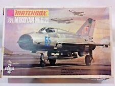 MATCHBOX 1:72 Mikoyan MiG-21 bis Fishbed Fighter Model Kit PK-19 40054 COMPLETE