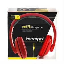 Intempo Pulse Over Ear Headphones Red with Black Trim Brand New Retail Pack
