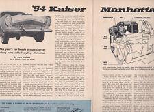 1954 Kaiser Manhattan w/McCulloch Supercharger, Detailed USA Car Mag Road Test