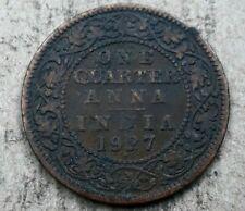 1927 Indian 1/4 Anna Coin